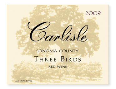 "Sonoma County ""Three Birds"" Red Wine"