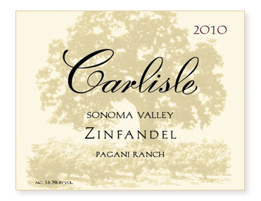 "Sonoma Valley ""Pagani Ranch"" Zinfandel"