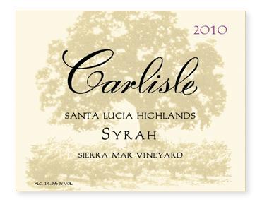 "Santa Lucia Highlands ""Sierra Mar Vineyard"" Syrah"
