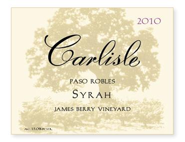 "Paso Robles ""James Berry Vineyard"" Syrah"