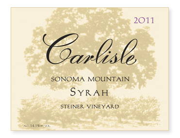 "Sonoma Mountain ""Steiner Vineyard"" Syrah"