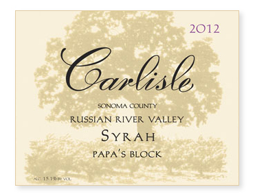 "Russian River Valley ""Papa's Block"" Syrah"
