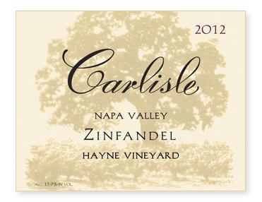 """Napa Valley """"Hayne Vineyard"""" Zinfandel"""