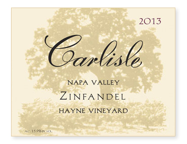 "Napa Valley ""Hayne Vineyard"" Zinfandel"