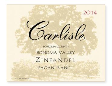 """Sonoma Valley """"Pagani Ranch"""" Zinfandel"""