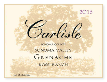 "Sonoma Valley ""Rossi Ranch"" Grenache"