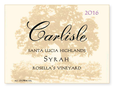 "Santa Lucia Highlands ""Rosella's Vineyard"" Syrah"