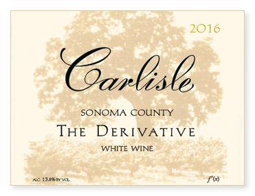 """Sonoma County """"The Derivative"""" White Wine"""