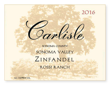 "Sonoma Valley ""Rossi Ranch"" Zinfandel"