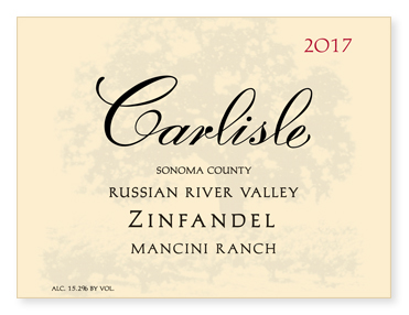 "Russian River Valley ""Mancini Ranch"" Zinfandel"