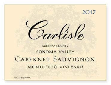 """Sonoma Valley """"Montecillo Vineyard"""" Cabernet Sauvignon"""