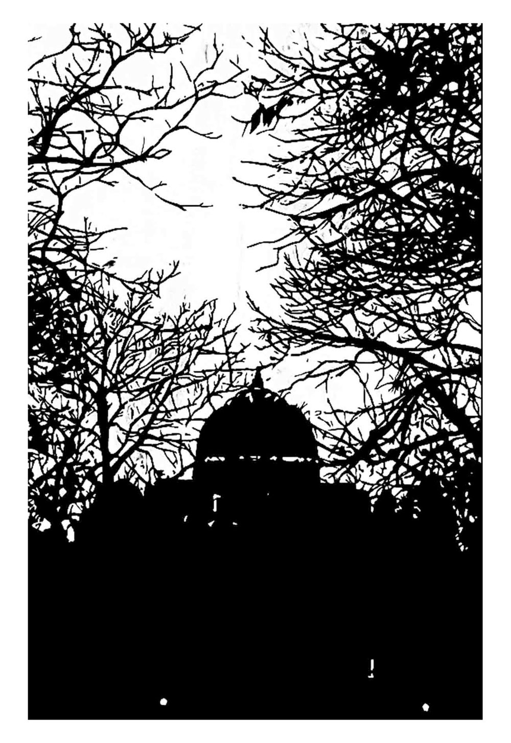 Greenwich Park VII Woodcut - 45cm x 30cm - 2016 (Edition of 25)