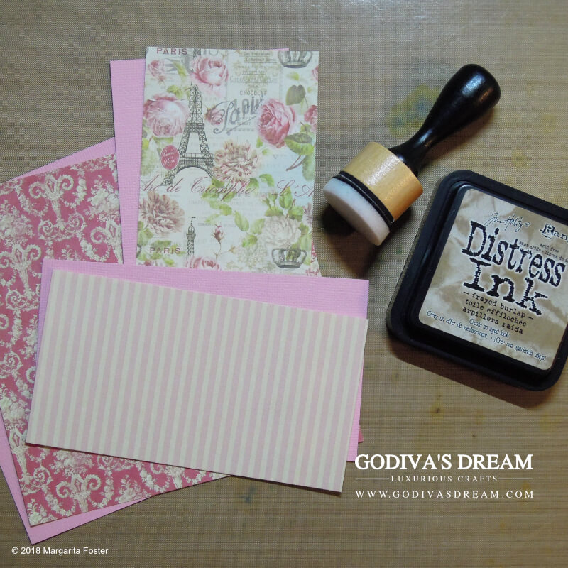 "Parisian Shabby Chic Spa Card Tutorial ""Spoil Yourself"" by Godiva's Dream. Everyone needs to relax and enjoy alone time once in a while. This card is perfect for any occasion, be it a birthday or just to accompany a spa-related gift. #cardmaking #papercrafting #handmadecard #shabbychic #stamping"
