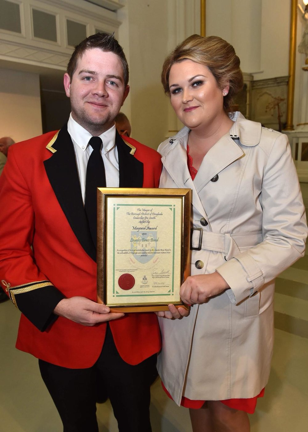 Drogheda Mayoral award - Apr 2018 Councilor Joanna Floody & Wayne Floody.jpg