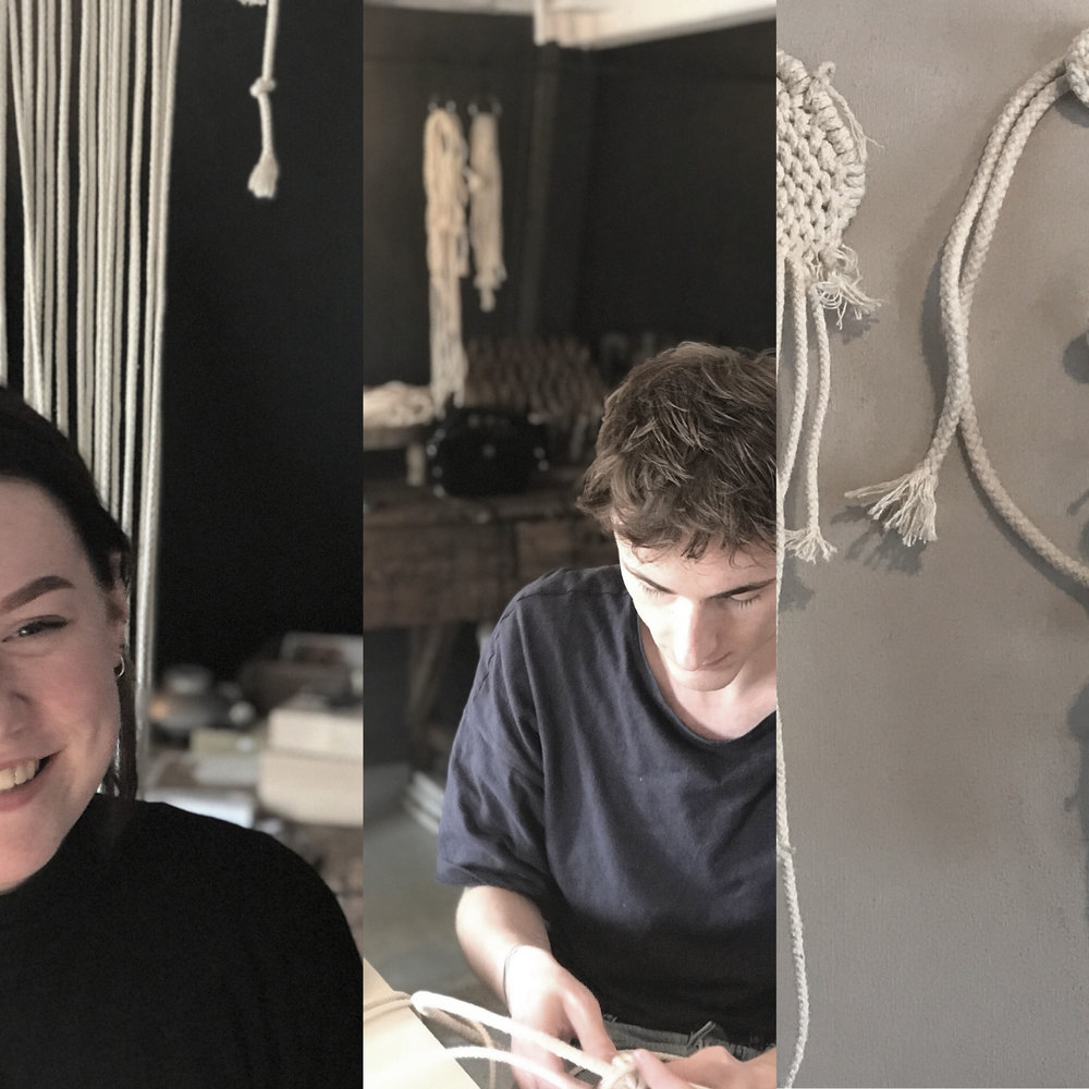 interns Loes en Roy | Academy Textile Design Zwolle | experimenting & learning at atelier C H A O S | 2018