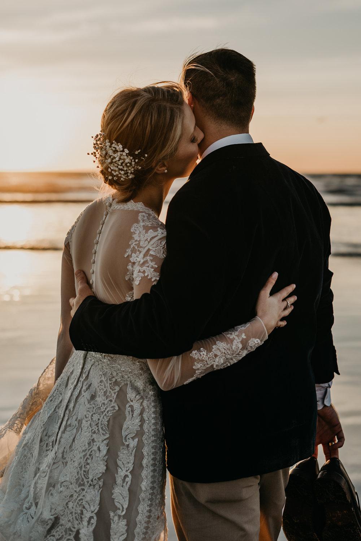 Pismo Beach wedding sunset