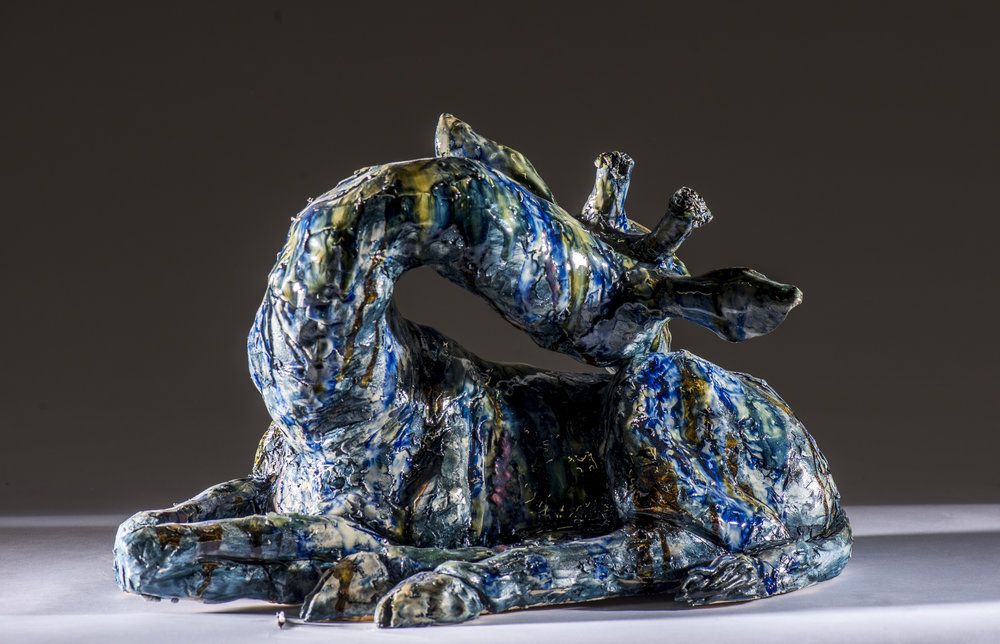 Giraffe in Cobalt