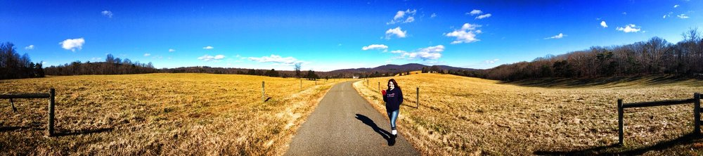 Victoria McGovern in Charlottesville, Virginia,  on her avenue and the beginning of After This Avenue.