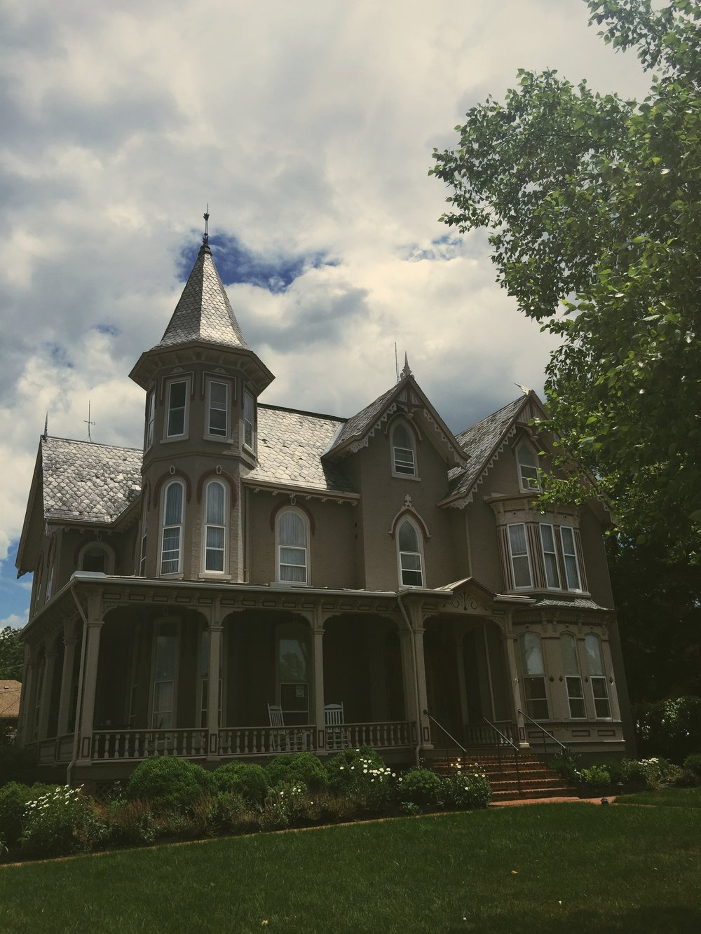 Lovely Victorian architecture of Harrisonburg, VA. We noticed homes were adorned with charming labels such as