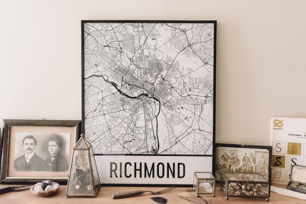 RICHMOND MODERN MAP ART