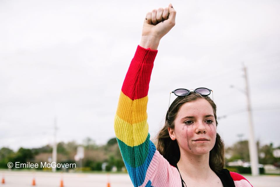 Student protests marjory stoneman douglas shooting Image Emilee McGovern Photojournalist the never again movement
