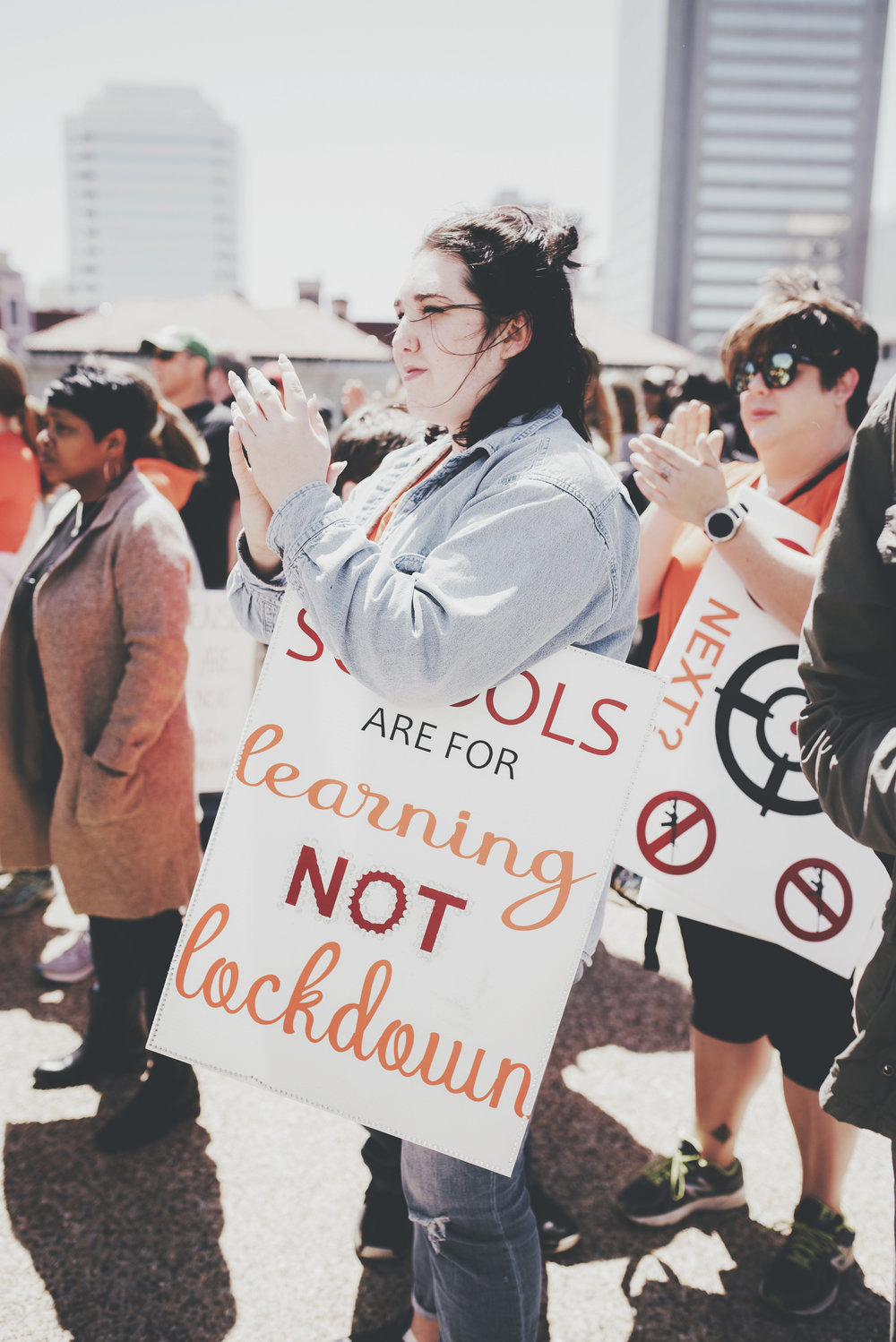 National School Walkout: Virginia Student Rally Against Gun Violence - The Student March From Brown's Island to the VA State Capitol
