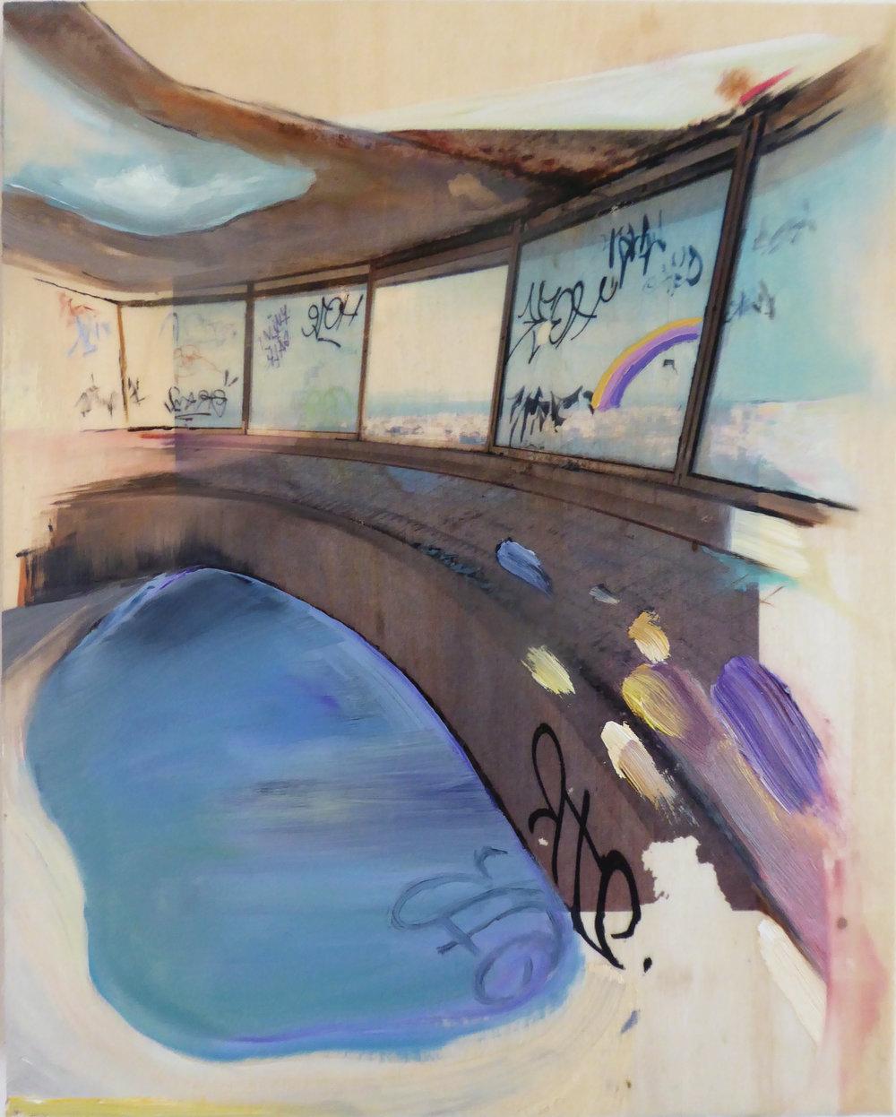 Graffiti and Rainbow, 2017 - Oil / mixed media on birch panel10