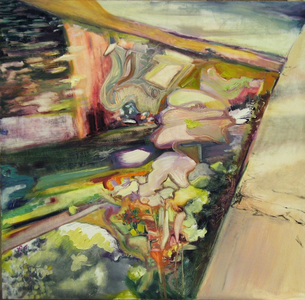 "Under the Boardwalk  , 2011 Oil on board 24"" x 24"" 