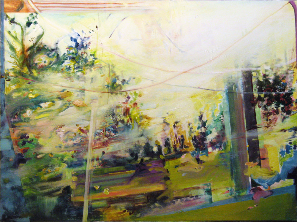 "Swept,   2012 Oil on board 36"" x 48"" 