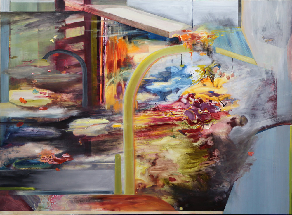 "Floodgate, 2013 Oil on board 36"" x 48"" 