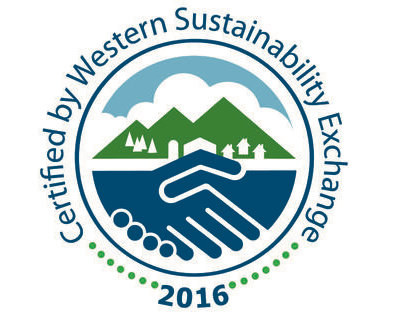"""Western Sustainability Exchange - We are a Certified program in the Western Sustainability Exchange, a nonprofit that """"pursues environmental stewardship, economic prosperity, and community well-being as interlinked goals."""" The WSE Certification ensures that an operation adheres to the following principles: treats animals humanely, eliminates hormones and sub-therapeutic antibiotics, significantly reduces or eliminates chemicals used in production practices, and protects open space, wildlife habitat, and water and soil quality. We share these priorities with WSE and are happy to partner with them to help evangelize how critical it is that we all eat grass-fed beef that is raised humanely and limit the practice of raising cattle on feedlots."""