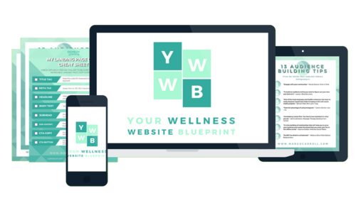 Your wellness website blueprint your wellness website blueprint course mock up malvernweather Image collections