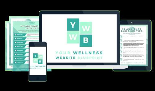 Your wellness website blueprint your wellness website blueprint course mock up malvernweather Choice Image