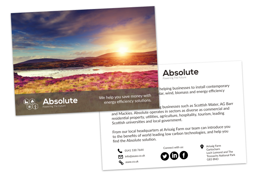 Promotional cards for use at industry events