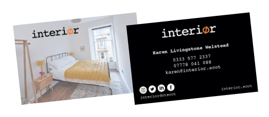 Interior business cards