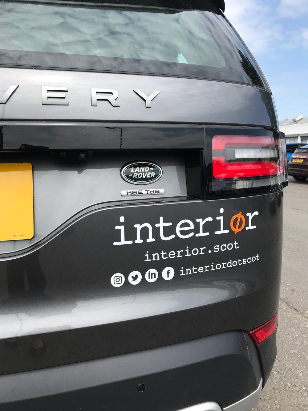Interior brand added to Karen's car