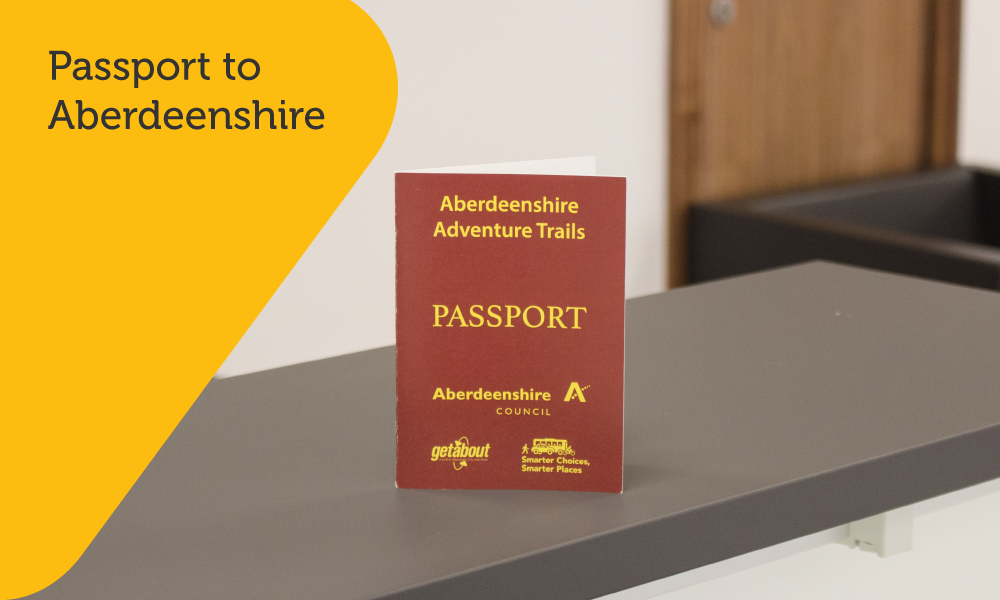 Aberdeenshire Council children's passport design