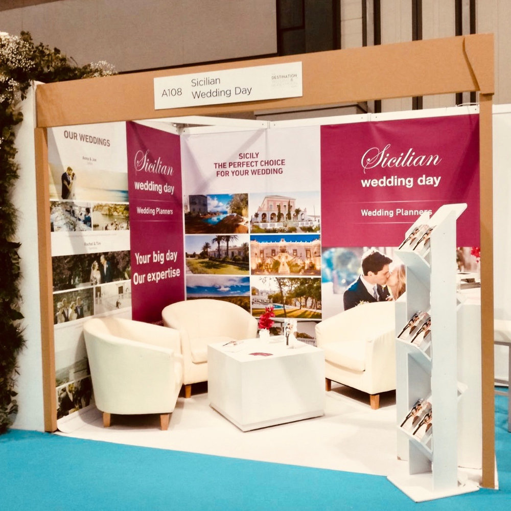 Our first exhibition stand, for Sicilian Wedding Day