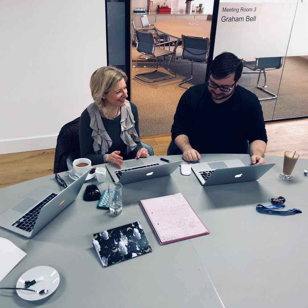Justine of Flow Creativity meets with James