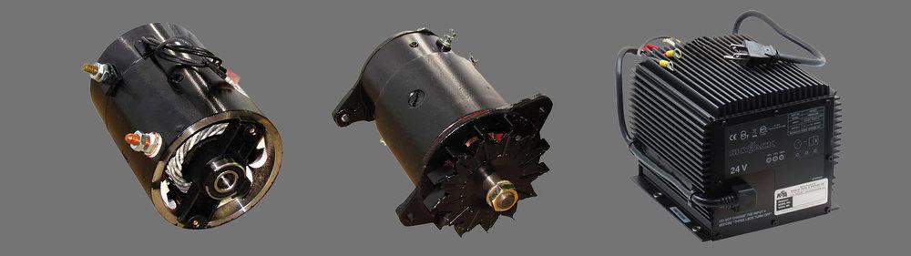 generators,pump motors & chargers -