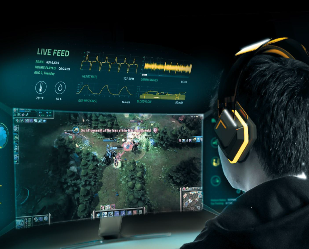 ava headset, monitor, and user interface | improving e-gaming performance