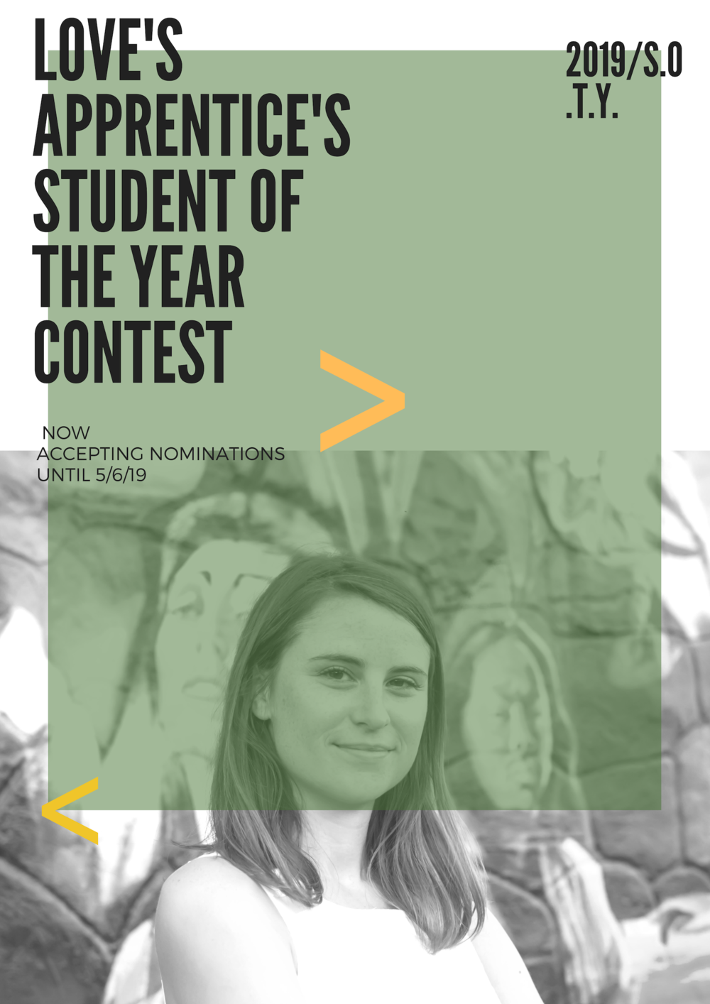 Turquoise Student Photo College Poster.png