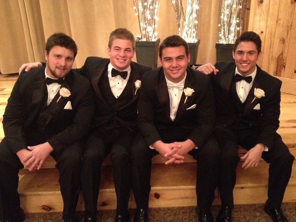 From left to right: Christian, Seth, Cole, and Jordo.