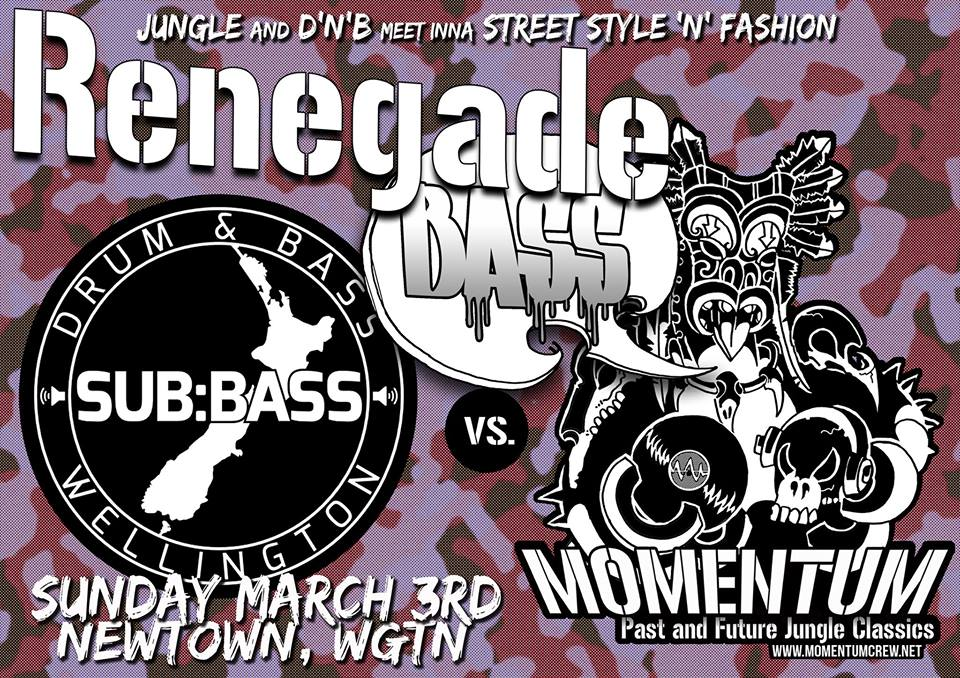 Renegade Bass, Newtown Festival, Saturday 3 March, Wellington