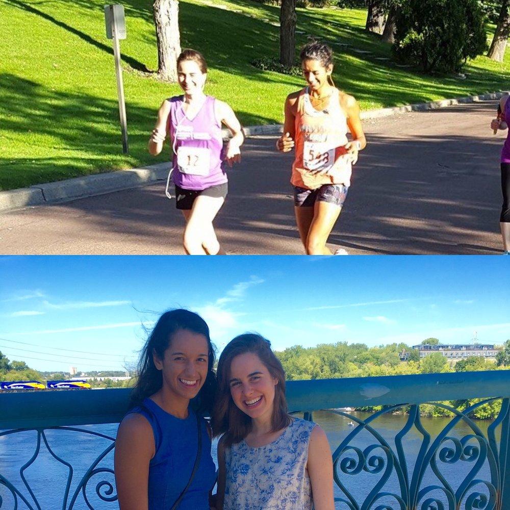 Vegan superstar Sarita Kundrod & I tackle the City of Lakes Half Marathon.