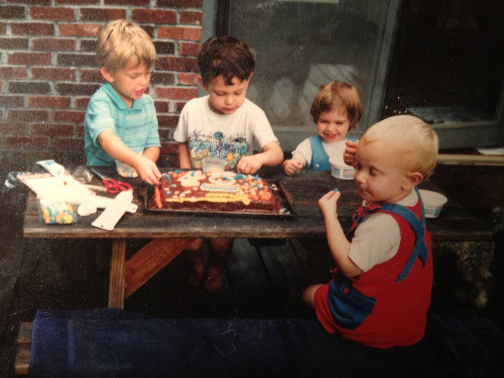A general portrait of childhood, which was primarily spent around the picnic table that my badass mother built.