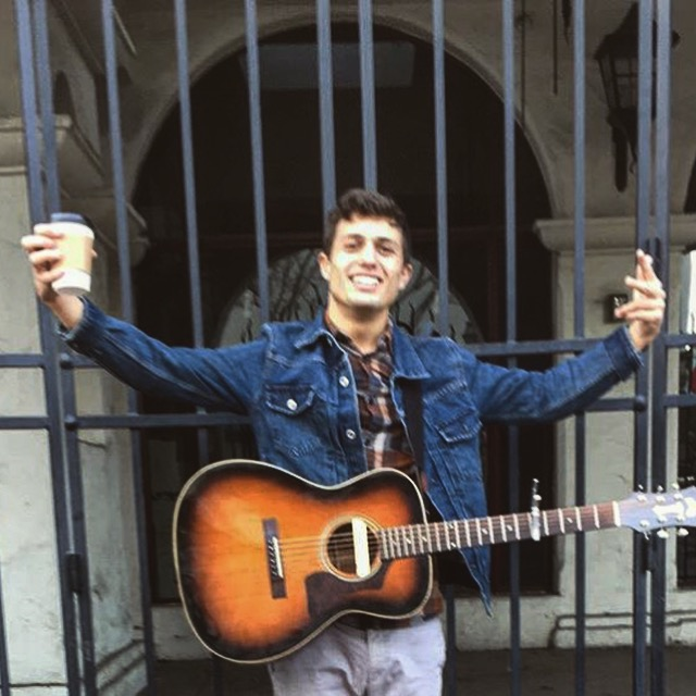terrible quality, but this is me busking on State St. in Santa Barbara last year.