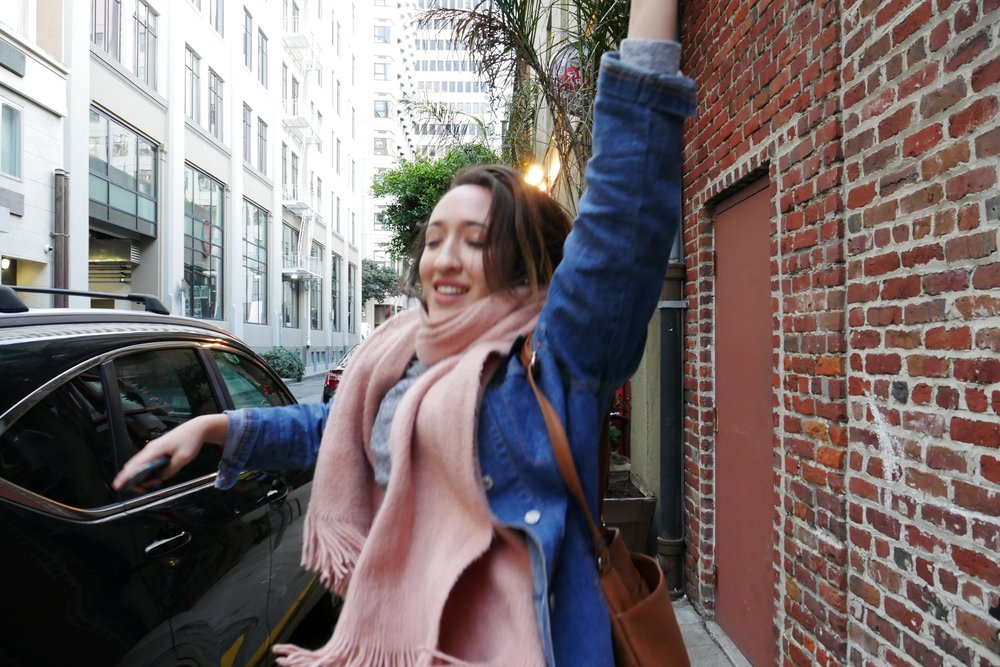 sarah in san francisco several years ago. adventure and silliness.