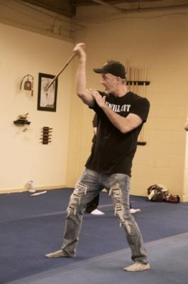 Ka Anthony demonstrates technique.