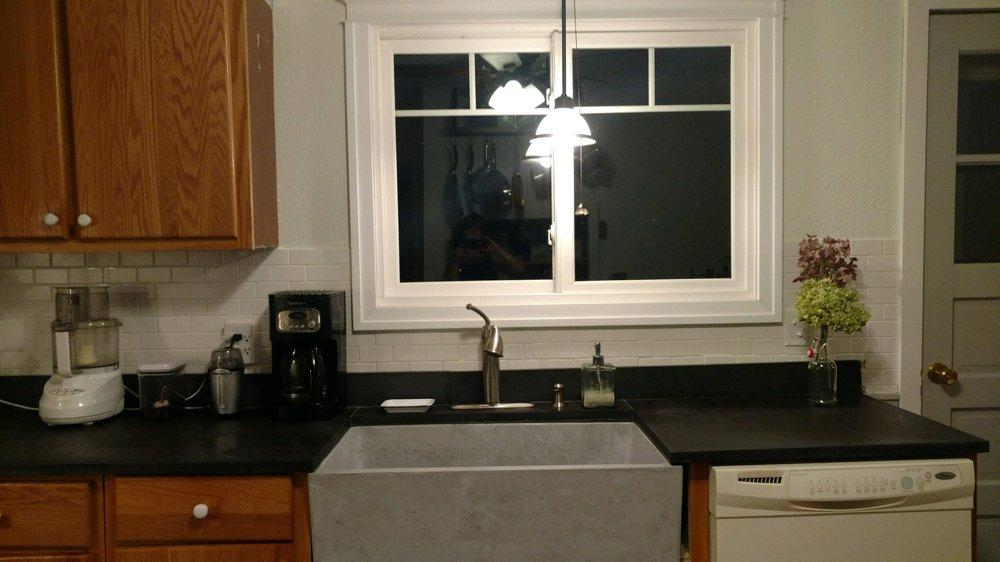 Concrete Countertops With Custom Farmhouse Sink!